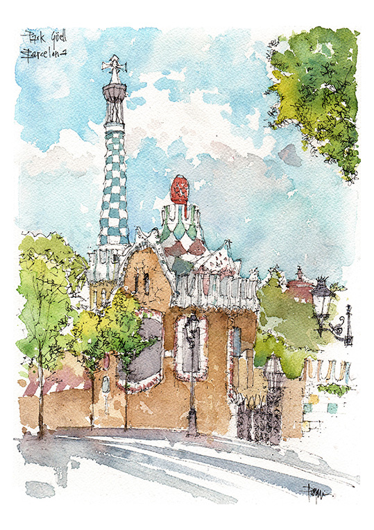 Park güell Barcelona print