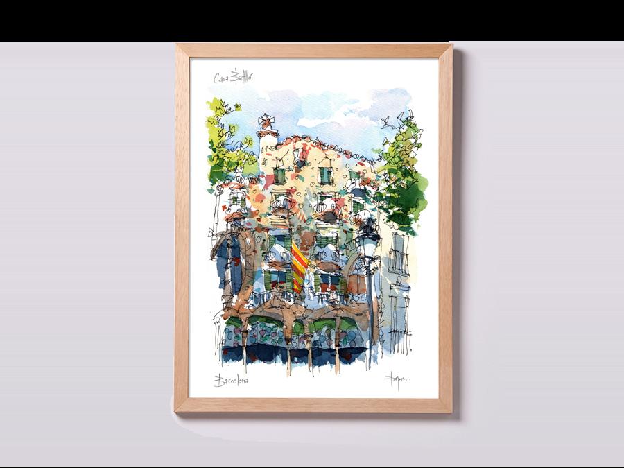 Piękny rysunek Casa Batllo