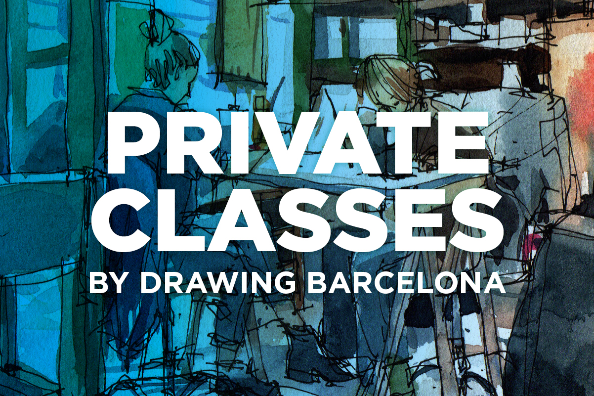 private-classes-watercolor-drawing-barcelona